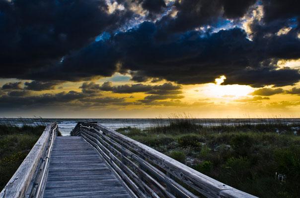 Honeymoon Beach Walkway Sunset