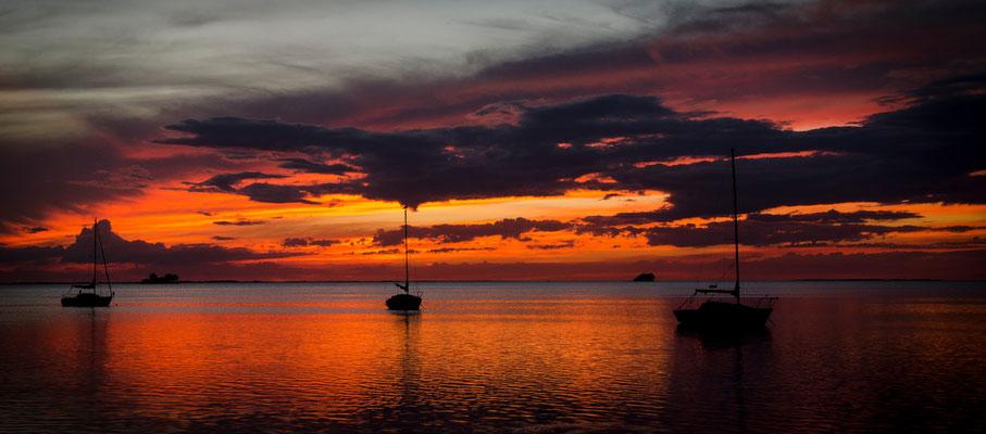 Crystal Beach Sunset and Sailboats