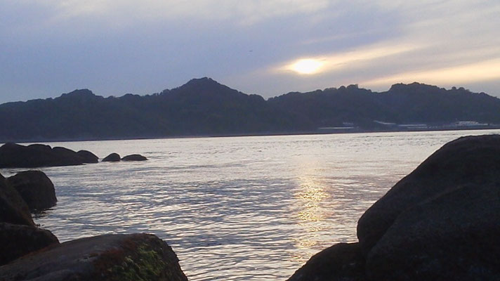 白石の鼻の夕日