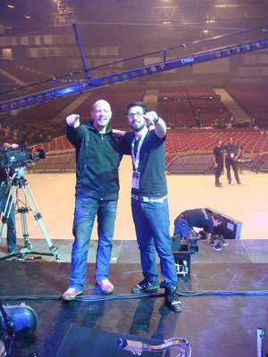 w/ Christoph Sztrakati playing @ Wr. Stadthalle