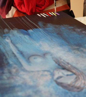 Franziska Quadri, Momente, Pinselstriche, Kunst, malen, Unfall