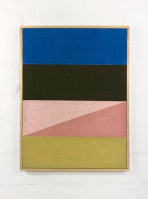 o. T.  Pigment, Pastell auf Baumwolle , 35 x 26 cm / pigment, pastel on canvas