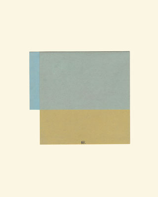o.T. Pastell auf Papier, gefaltet 30 x 24 cm / pastel on paper, folded