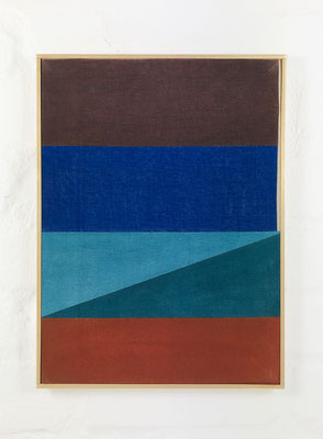 o. T.  Pigment, Pastell auf Baumwolle , 34 x 25 cm / pigment, pastel on canvas