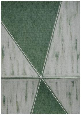 """21 cm x 29,7 cm - Grünerde - Farbstift auf Papier - 2020 - ( """" DNA - Farben-Chakren """" )"""