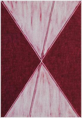 """21 cm x 29,7 cm - Rotviolett - Farbstift auf Papier - 2020 - ( """" DNA - Farben-Chakren """" )"""