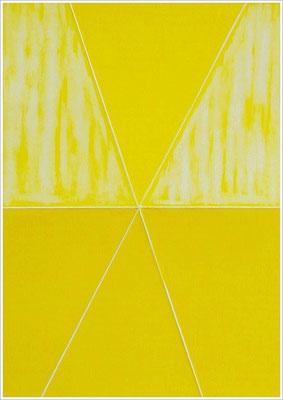 """21 cm x 29,7 cm - Kadmiumgelb - Farbstift auf Papier - 2020 - ( """" DNA - Farben-Chakren """" )"""