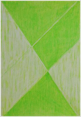 """21 cm x 29,7 cm - Lichtgrün - Farbstift auf Papier - 2017 - ( """" DNA - Farben-Chakren """" )"""