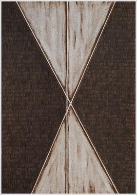 """21 cm x 29,7 cm - Van-Dyck-Braun - Farbstift auf Papier - 2020  - ( """" DNA - Farben-Chakren """" )"""