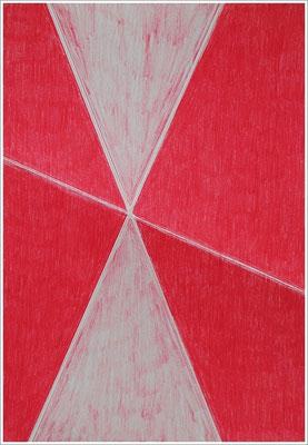 """21 cm x 29,7 cm - Karmin-Rose - Farbstift auf Papier - 2017 - ( """" DNA - Farben-Chakren """" )"""