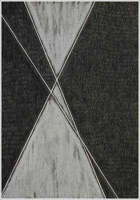 """21 cm x 29,7 cm - Warmgrau - Farbstift auf Papier - 2020  - ( """" DNA - Farben-Chakren """" )"""