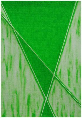 """21 cm x 29,7 cm - Laubgrün - Farbstift auf Papier - 2020 - ( """" DNA - Farben-Chakren """" )"""