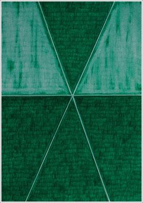 """21 cm x 29,7 cm - Phthalogrün Dunkel - Farbstift auf Papier - 2020 - ( """" DNA - Farben-Chakren """" )"""