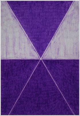"""21 cm x 29,7 cm - Purpurviolett - Farbstift auf Papier - 2017 - ( """" DNA - Farben-Chakren """" )"""
