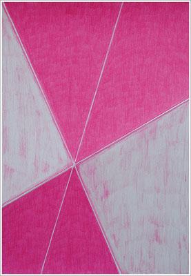 """21 cm x 29,7 cm - Krapplack-Rosa - Farbstift auf Papier - 2017 - ( """" DNA - Farben-Chakren """" )"""