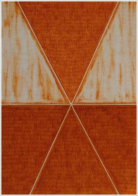 """21 cm x 29,7 cm - Ocker Gebrannt - Farbstift auf Papier - 2020  - ( """" DNA - Farben-Chakren """" )"""
