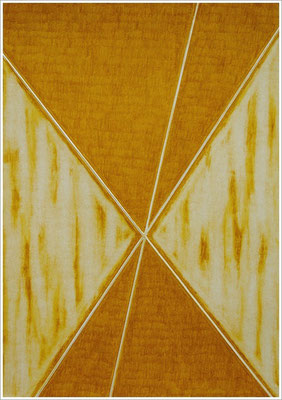 """21 cm x 29,7 cm - Grüngold - Farbstift auf Papier - 2020 - ( """" DNA - Farben-Chakren """" )"""