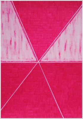 """21 cm x 29,7 cm - Fuchsia - Farbstift auf Papier - 2020 - ( """" DNA - Farben-Chakren """" )"""