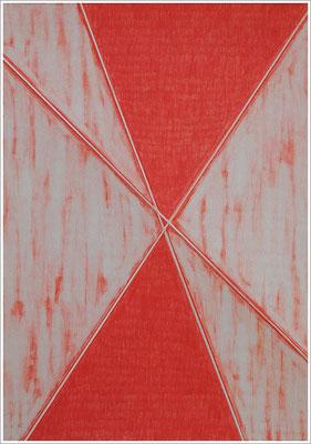 """21 cm x 29,7 cm - Fleischfarbe Mittel - Farbstift auf Papier - 2020 - ( """" DNA - Farben-Chakren """" )"""
