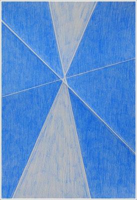 """21 cm x 29,7 cm - Ultramarinblau-Hell - Farbstift auf Papier - 2017 - ( """" DNA - Farben-Chakren """" )"""
