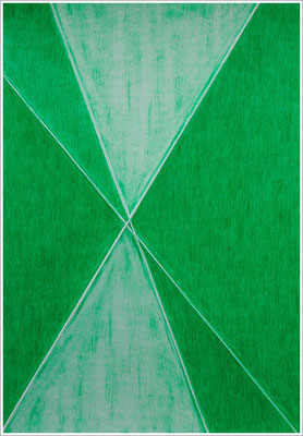 """21 cm x 29,7 cm - Smaragdgrün - Farbstift auf Papier - 2017 - ( """" DNA - Farben-Chakren """" )"""