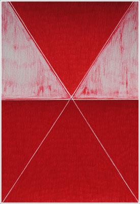 """21 cm x 29,7 cm - Scharlachrot-Tief - Farbstift auf Papier - 2017 - ( """" DNA - Farben-Chakren """" )"""