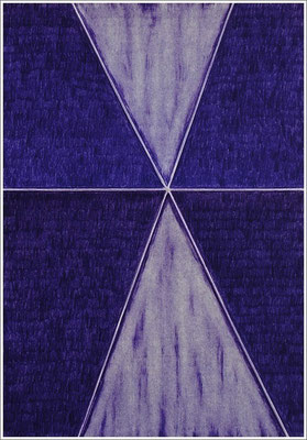 "21 cm x 29,7 cm - Mauve - Farbstift auf Papier - 2020 - ( "" DNA - Farben-Chakren "" )"