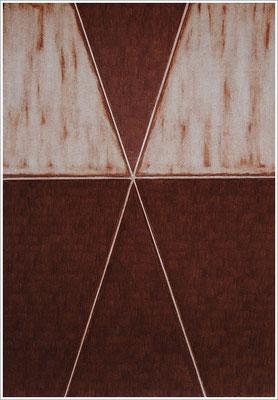 """21 cm x 29,7 cm - Siena Gebrannt - Farbstift auf Papier - 2020 - ( """" DNA - Farben-Chakren """" )"""