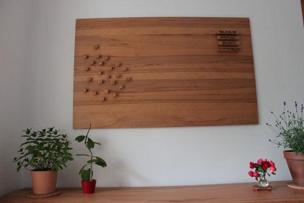 Magnetwand aus Holz