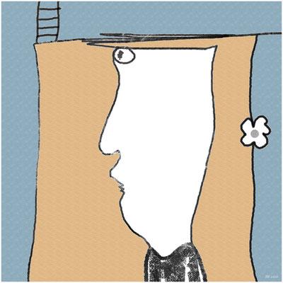 engstirnig (digitale Zeichnung)