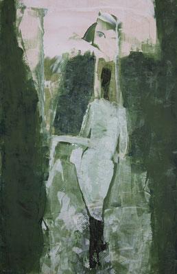 Hagazussa - für Hagdis (Acryl auf Birkenholz, 26,5 x 41 cm)