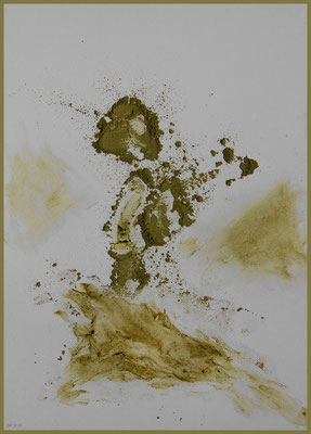 unser Leben - fragil & flüchtig (Henna auf Papier, DIN A4)