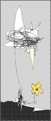 der Rabe Abraxas (digitale Malerei)