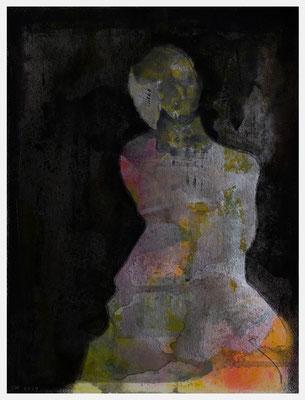 nude (Acryl, Tinte, Antik Metallic, Pastellkreide auf Papier, 250g/m², 24 x 32 cm)