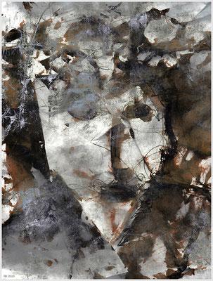 Blickwinkel (mixed media/Basis: Fineliner, Acryl auf Papier, DIN A4)
