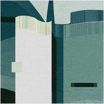 Stadt (mixed media/Basis: digitale Malerei)