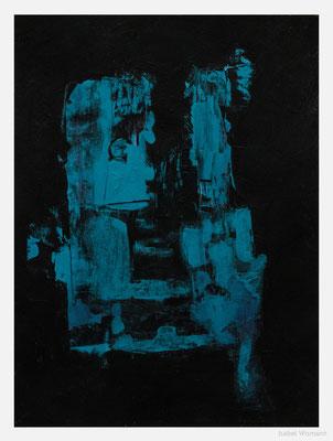 blind date im Café (Acryl auf Papier, 250g/m², 24 x 32 cm)