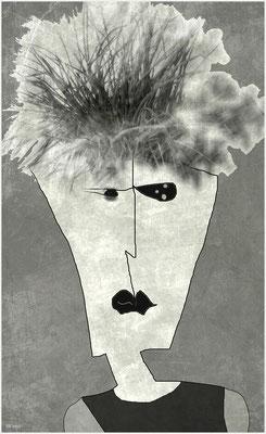 haarsträubende Angelegenheit (digitale Zeichnung/mixed media)