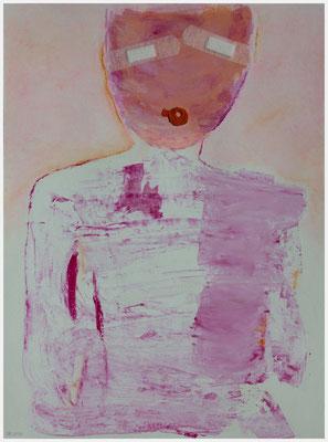 dünnhäutig (Acryl, Gouache, Pastellkreide auf Papier, 265g/m², 30 x 40 cm)