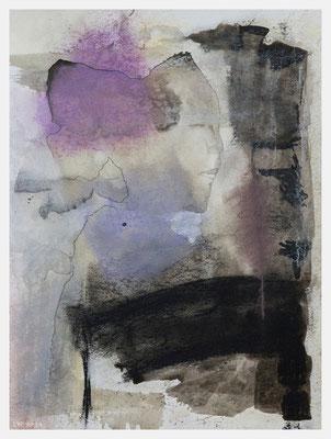 die Sphinx (Acryl, Pastellkreide auf Papier, 265g/m², 30 x 40 cm)