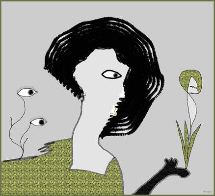 der grüne Daumen (digitale Malerei)