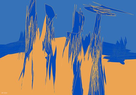 à la plage (digitale Malerei)