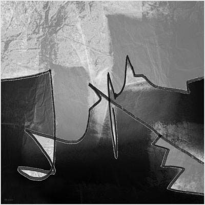 Berg- und Talfahrt (digitale Malerei/Basis: eigene Fotografien)