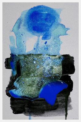 der Aufgang der Erde (Acryl auf Pappe, 15 x 24 cm)