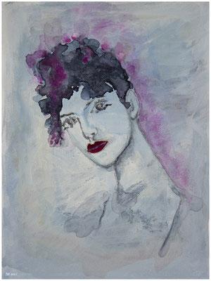 Odette (Aquarell, Bleistift, Deckweiß auf Papier, 300g/m², 24 x 32 cm)