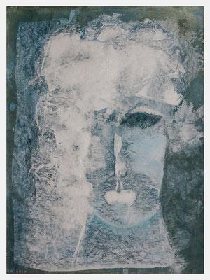das Gewissen (Pastellkreide, Acryl auf Papier, 265g/m², 30 x 40 cm)
