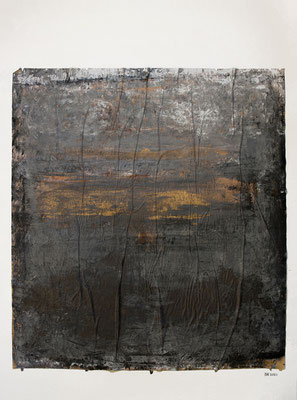 ohne Titel (Acryl, Gouache, Graphitpulver auf Backpapier, aufgeklebt auf Aquarellpapier, ca. 350g/m², 42 x 56 cm)