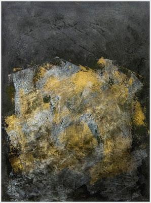 Eldorado oder Das goldene Zeitalter (Acryl, Gold- & Silberfarbe, Pastellkreide, Gouache auf Papier, 265g/m², 30 x 40 cm)