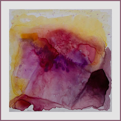Alpenglühen (Aquarell auf Fotopapier, 30 x 30 cm)