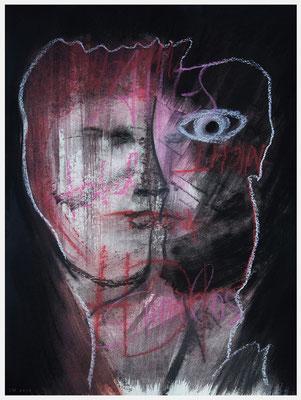 multiple Persönlichkeit (Pastellkreide auf Papier, 265g/², 30 x 40 cm)